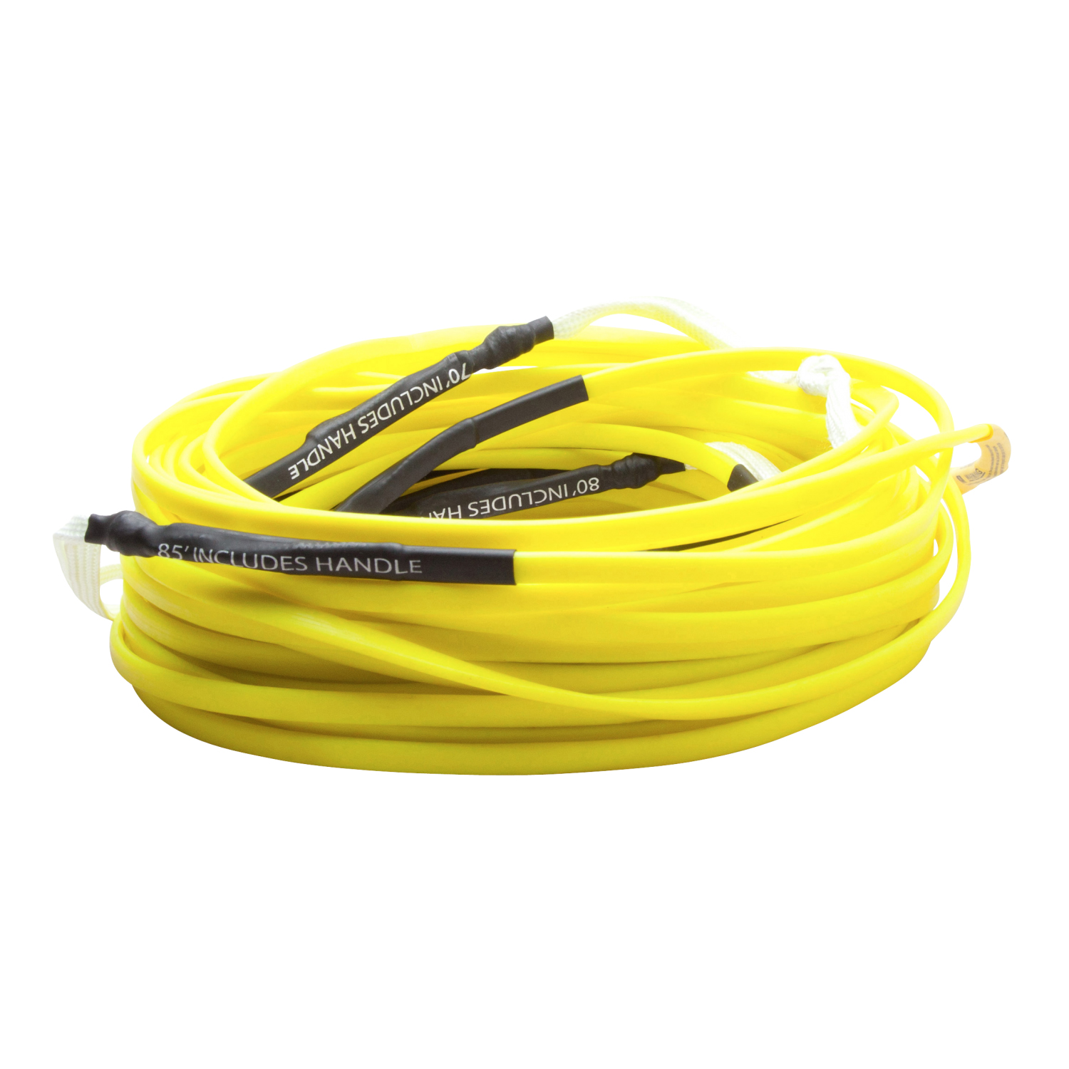 Hyperlite 2018 80 Ft Silicone Flat Line (Yellow) Wakeboard Rope by