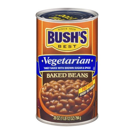 (6 Pack) Bush's Best Vegetarian Baked Beans, 28 (The Best Baked Beans On The Planet)