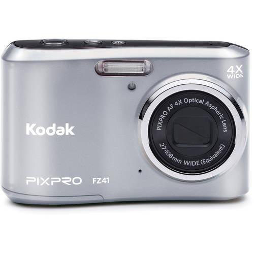Kodak Friendly Zoom FZ41-SL Digital Camera with 4x Optical IMage Stabilized Zoom with 2.7-Inch LCD (Silver) by Kodak