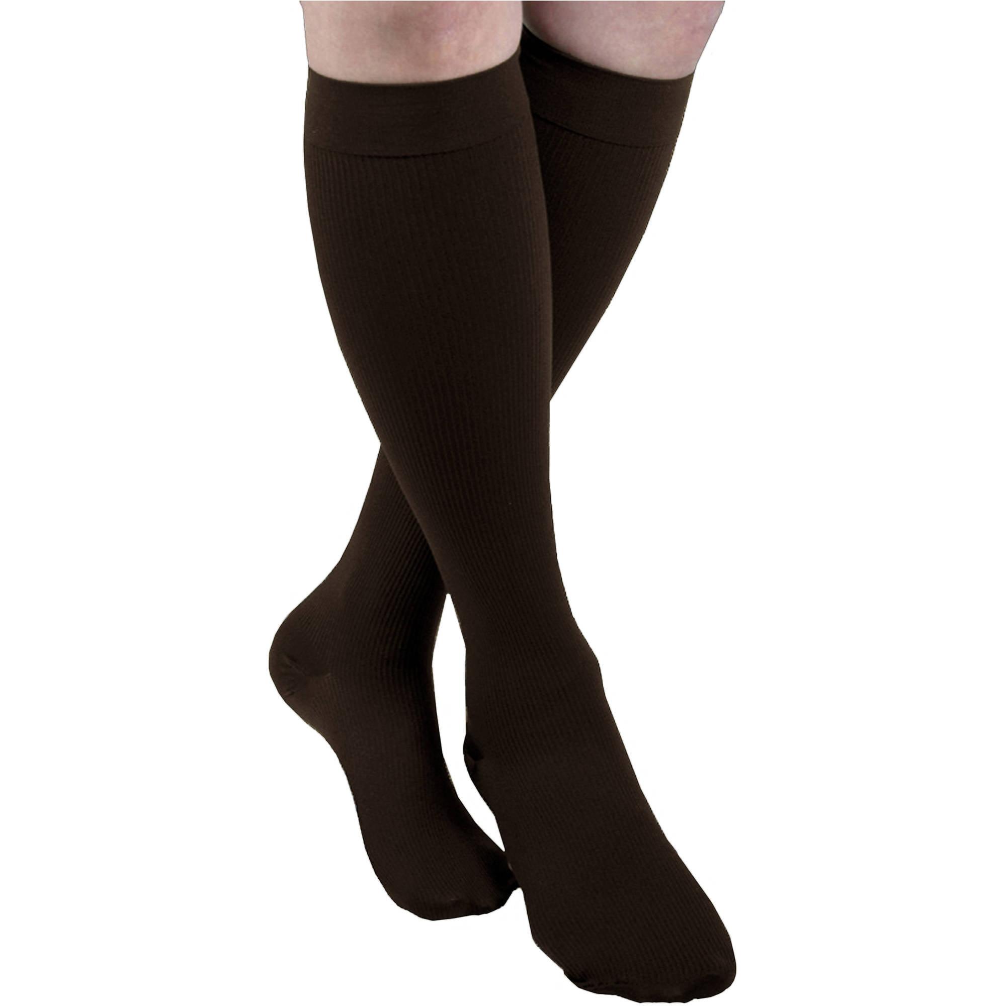 4b6aab5d05 Maxar Brown Small Mens Trouser Support Compression Socks – Walmart ...