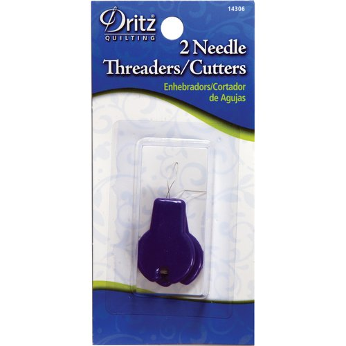 Dritz Needle Threader Cutter 2 Ct