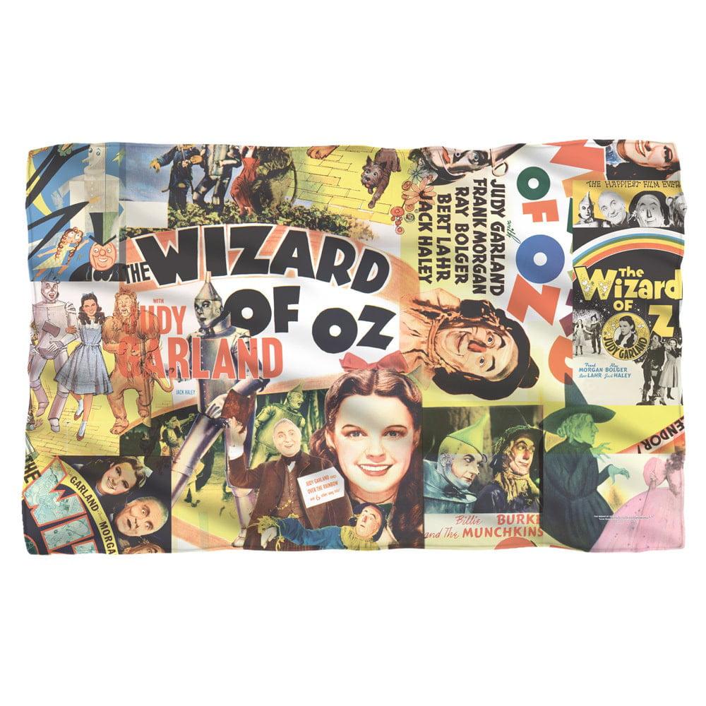 Trevco Wizard Of Oz/Collage White Polyester Blanket