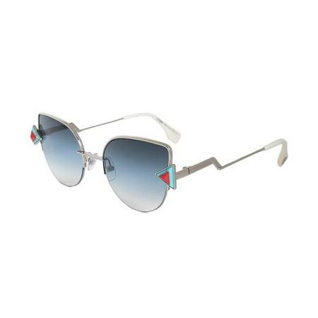 Fendi FENDI-SUNG-FF0242S-SCB-NE-52 Rainbow Cat Eye Sunglasses with Blue Gradient Actual Lens