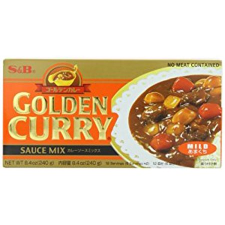 - S&B Golden Curry Sauce Mix  Mild  7.8 oz