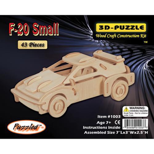 "3D Jigsaw Puzzle 43 Pieces 7""x3""x2-1/2""-F-20 Car"