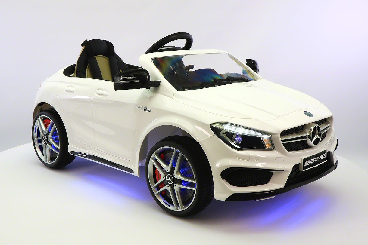 Mercedes Power Wheels >> Mercedes Benz Cla45 Ride On Toy Car With Parental Remote White