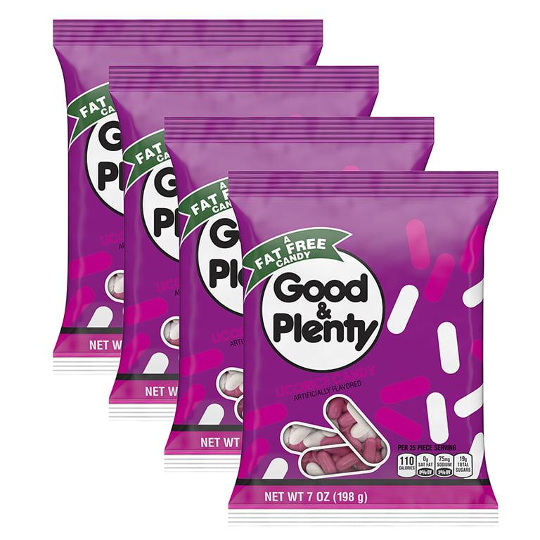 (4 Pack) Good & Plenty, Licorice Candy, 7 Oz