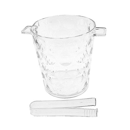• Beautiful Hard Acrylic Ice Bucket with Tongs. • 6.5 in. high x 6 in. wide at the top x 4.75 in. at the bottom • Use for any Parties • Use as Ice Holders and More. ()