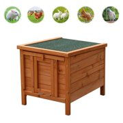 """Best Chickens Coops - Ktaxon 20"""" Wooden Rabbit Bunny Guinea Pig Hutch Review"""