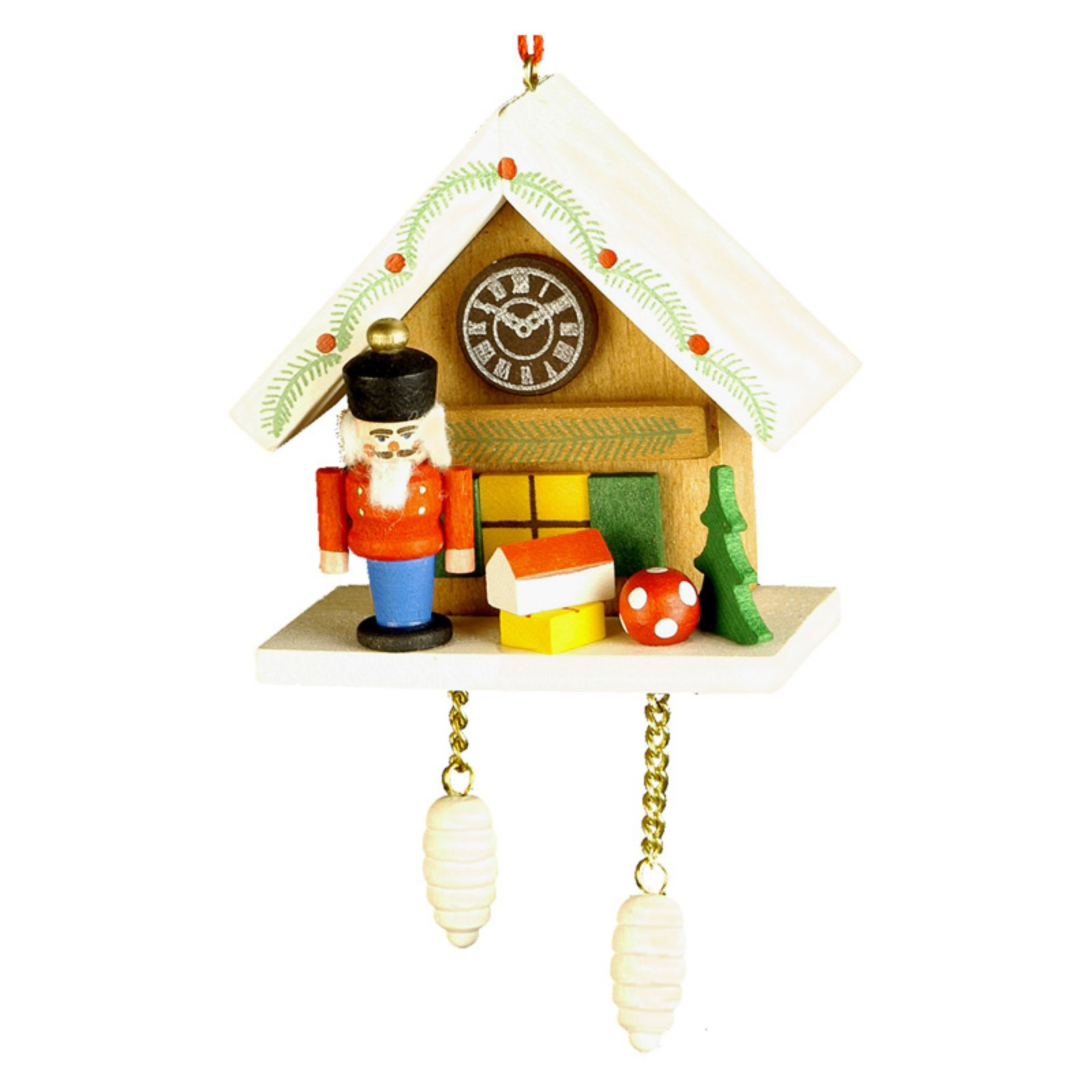 Christian Ulbricht Nutcracker with Brown Cuckoo Ornament