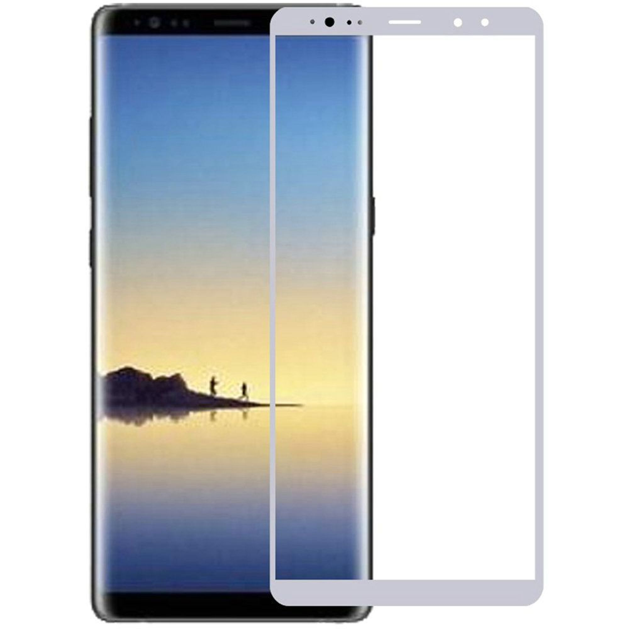 Samsung Galaxy Note 8 Screen Protector, by Insten Clear Tempered Glass Screen Protector LCD Film Guard Shield for Samsung Galaxy Note 8, Silver