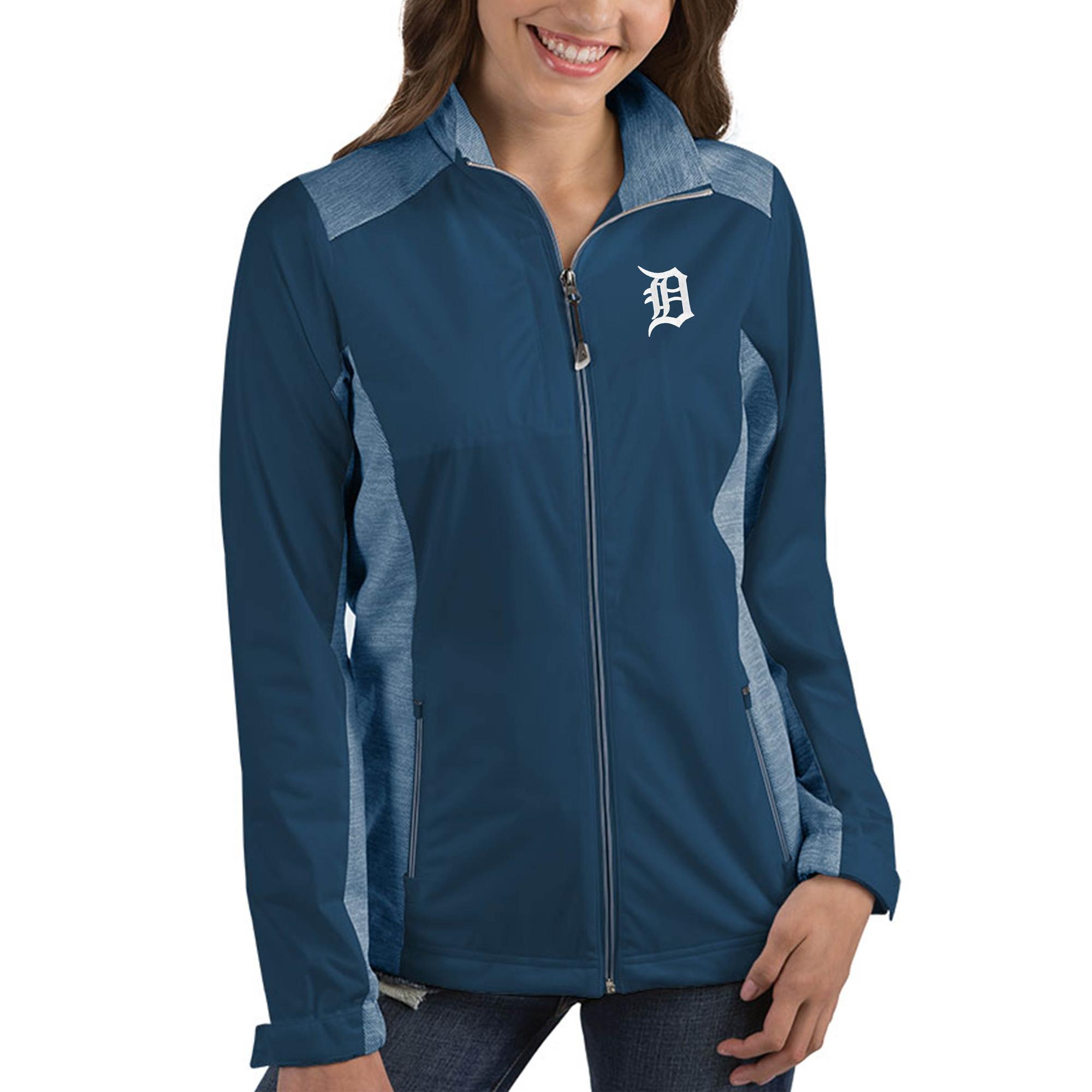 Detroit Tigers Antigua Women's Revolve Full-Zip Jacket - Navy