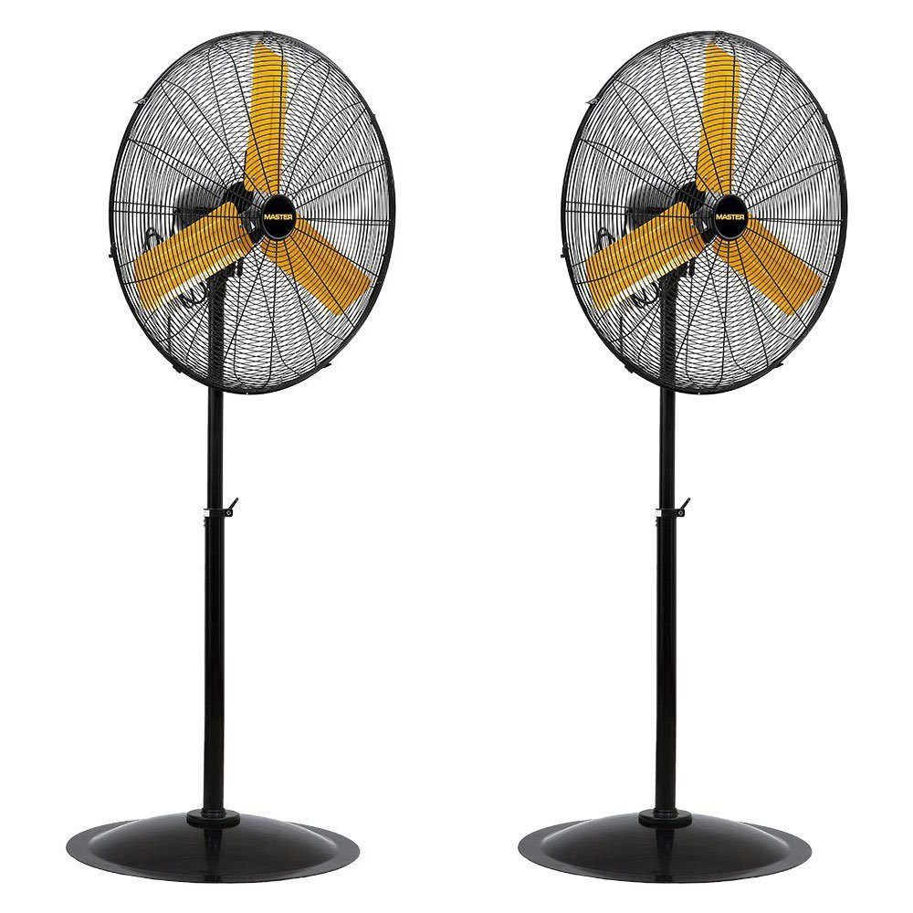Master Professional 30 Inch High Velocity Oscillating Pedestal Fan 2 Pack