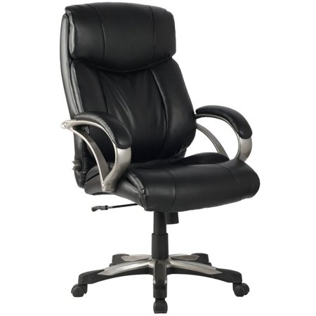 viva high back ergonomic leather chair with adjustable lumbar