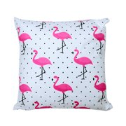 "15.75"" Flamingo Stuffed Cushion Decorative Throw Pillow with Zipper, 1Pack"