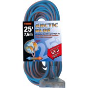 Prime Ultra Heavy Duty 25-Foot Triple Tap Arctic Blue All-Weather TPE Extension Cord