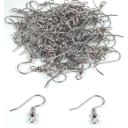 Surgical Steel Ball & Coil Earring Hooks (X100)