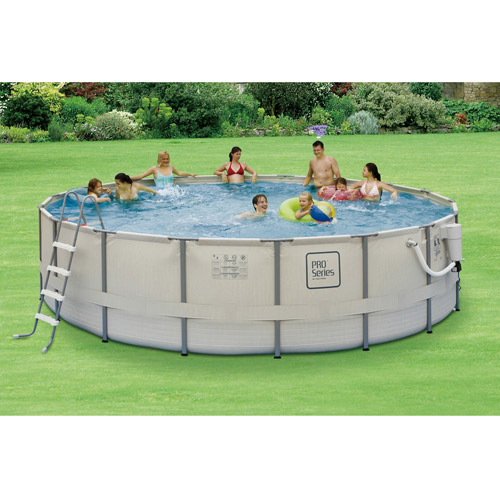 "PRO Series Round 18' x 52"" Deep Metal Frame Swimming Pool Package"