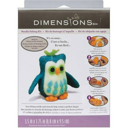 Needle Felted Animals (Dimensions Needlecrafts Needle Felted Character Kit, Owl )