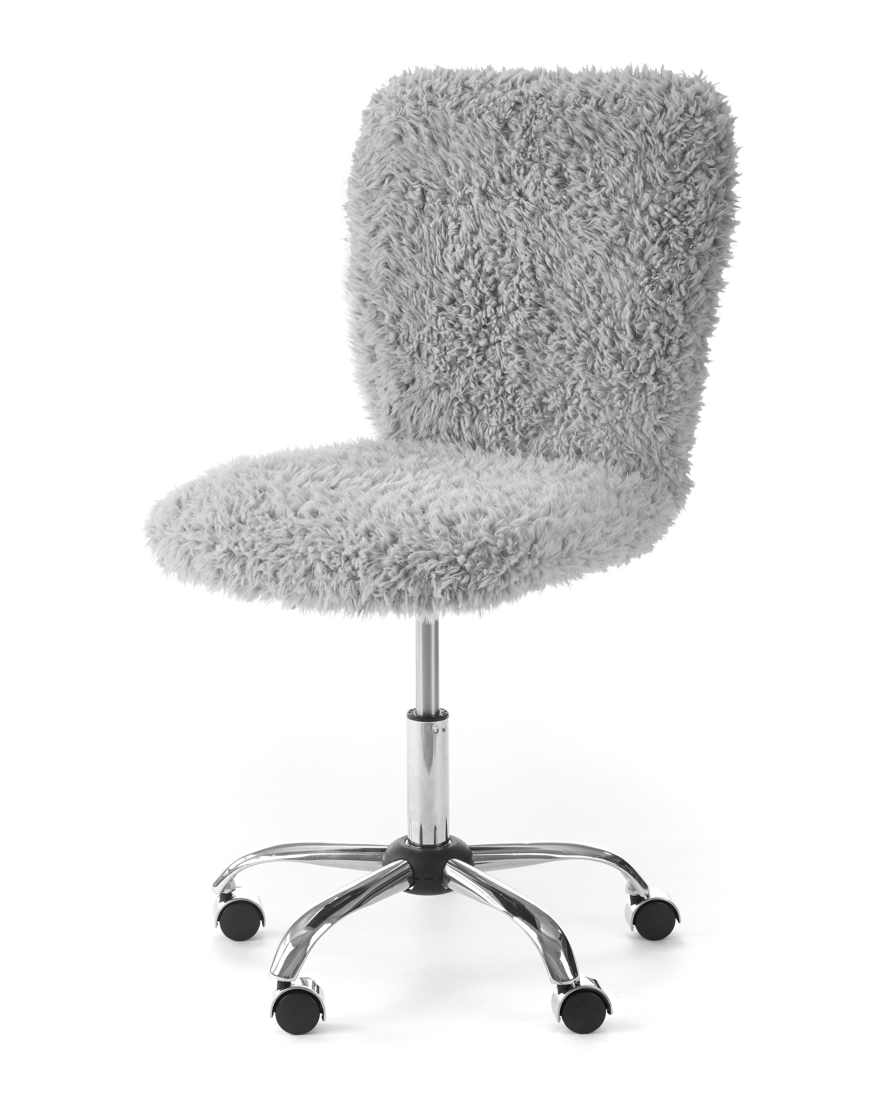 Urban Shop Faux Fur Armless Swivel Task Office Chair Multiple Colors Walmart Com Walmart Com