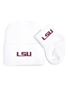 Product Image LSU Tigers Newborn Baby Knit Cap and Socks Set. Future  Tailgater 311537fd8e70
