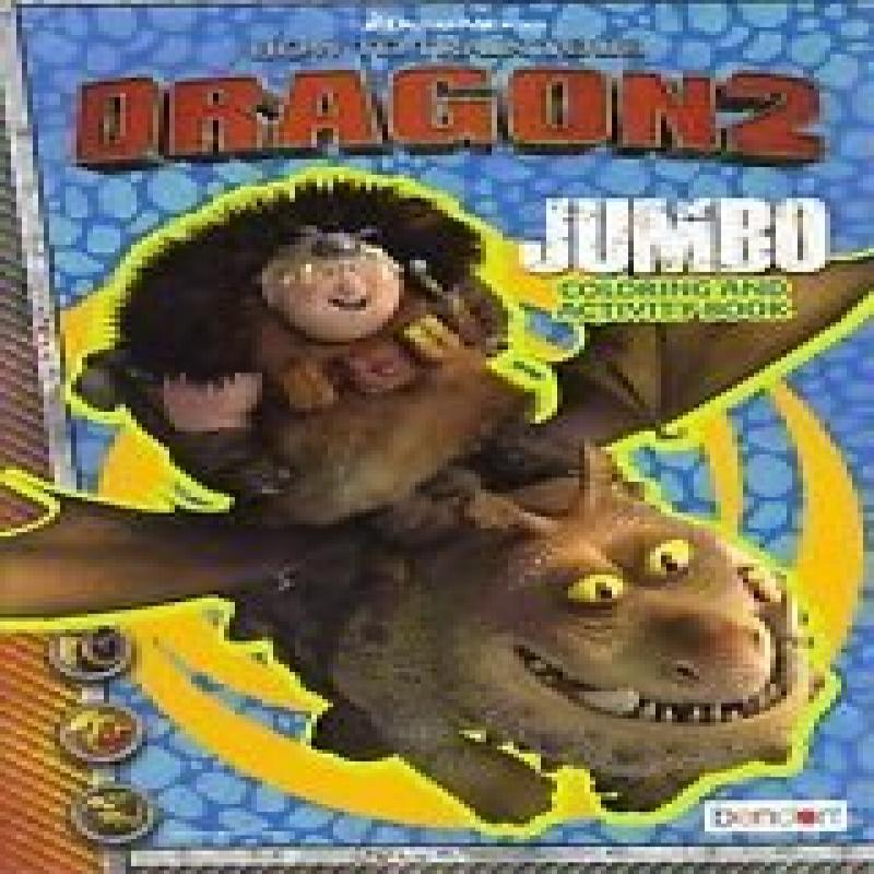 DreamWorks Dragon2 How to Train Your Dragon Jumbo Coloring & Activity Book (Assorted, Designs & Quantities Vary)