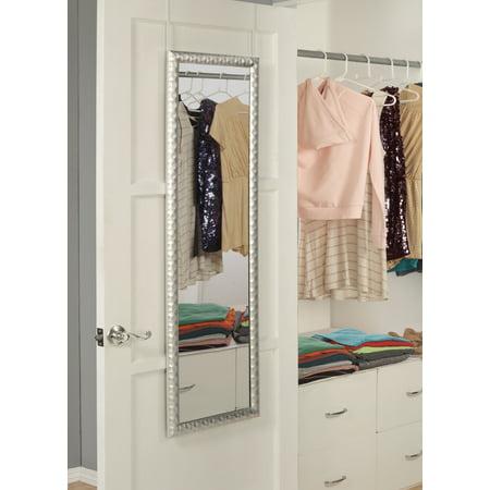 Martin Svensson Home Glam Over the Door Mirror, Metallic Grey C2500 Door Mirror