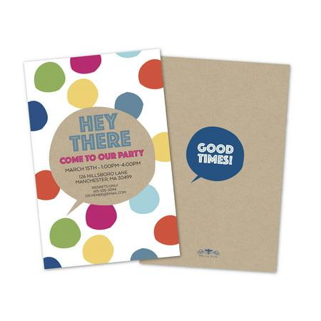 funky polka dots personalized party invitations walmart com