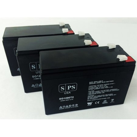 SPS Brand 12V 9Ah Replacement Battery for Minuteman A300L (Terminal T2) (3 Pack)