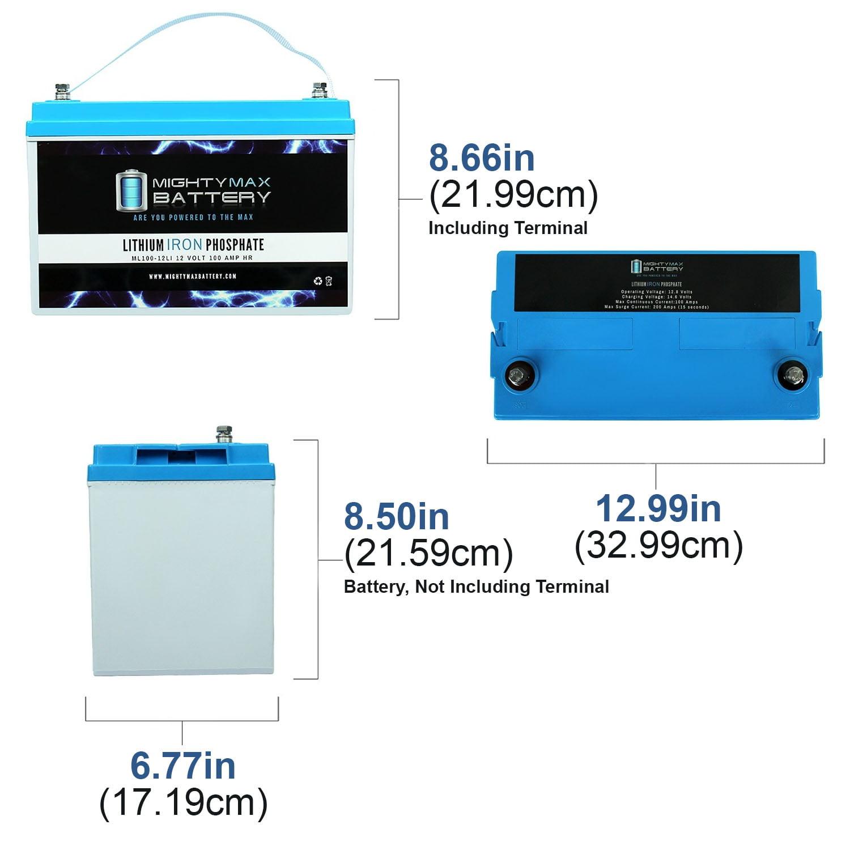 Mighty Max Battery 12V 100Ah SLA Battery for Platform Power System Netsure 501 AC1 Brand Product