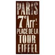 Artehouse LLC Paris Transit 7E - Arrt by Cory Steffen Textual Art Plaque