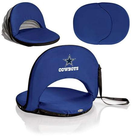 Portable Recliner Chair - Dallas Cowboys - Oniva Seat Portable Recliner Chair by Picnic Time (Navy)