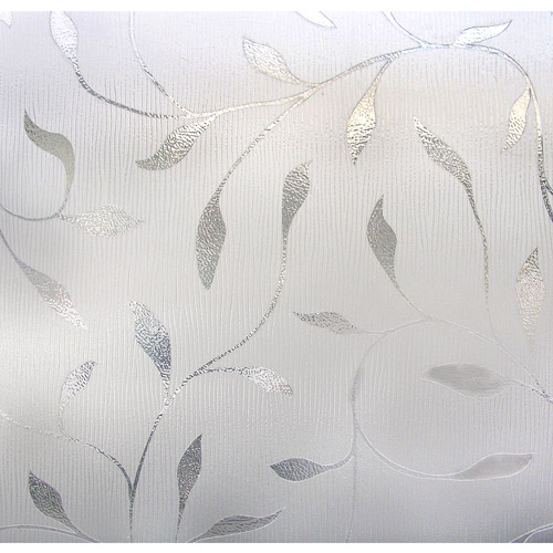 Light Effects Etched Leaf Decorative Window Film