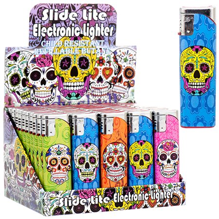 New 367200  Lighter Slide Lite Candy Skull Dsgn (50-Pack) Kitchen Tools Cheap Wholesale Discount Bulk Stationery Kitchen Tools Candle Holder Pedestal - Cheap Lighters Bulk