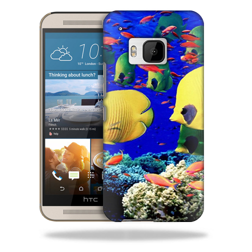 MightySkins Snap-On Protective Hard Case Cover for HTC One M9 Under The Sea
