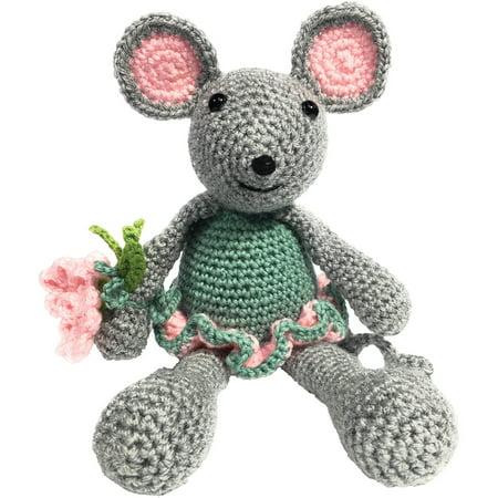 The Crafty Kit Co Crochet Kit Blossom Mouse Walmartcom