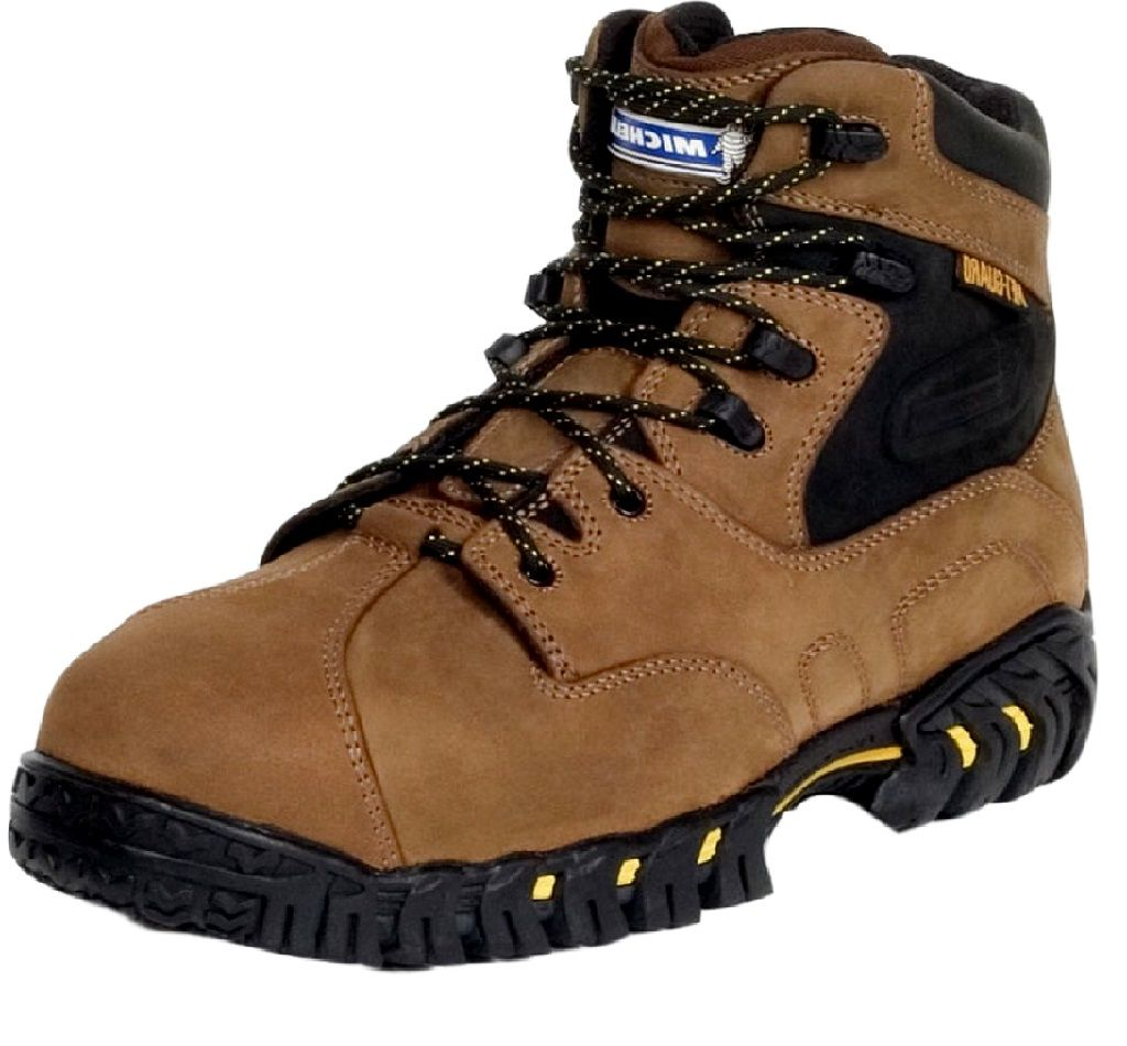 Michelin Work Boots Mens Steel Toe Internal Met Guard Brown XPX763 by Michelin