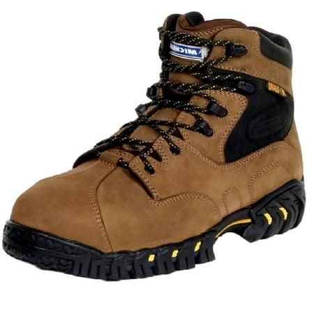 Michelin Work Boots Mens Steel Toe Internal Met Guard Brown XPX763