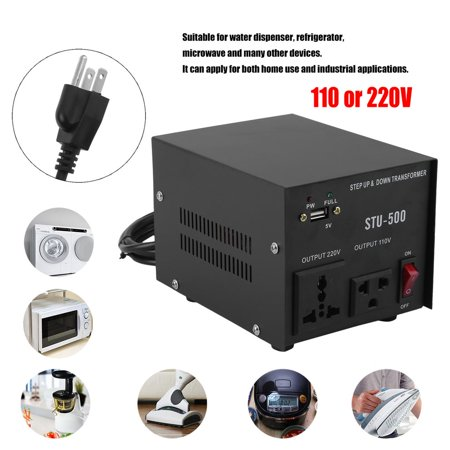 500w Voltage Converter - 500W Electrical Power Voltage Converter Step Up&Down Transformer With USB Output Voltage 110 Or 220 Volts US Plug