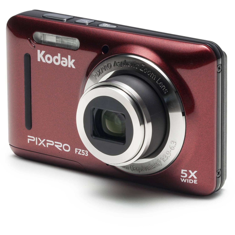 KODAK PIXPRO FZ53 Compact Digital Camera - 16MP 5X Optical Zoom HD 720p  Video (Blue) - Walmart.com