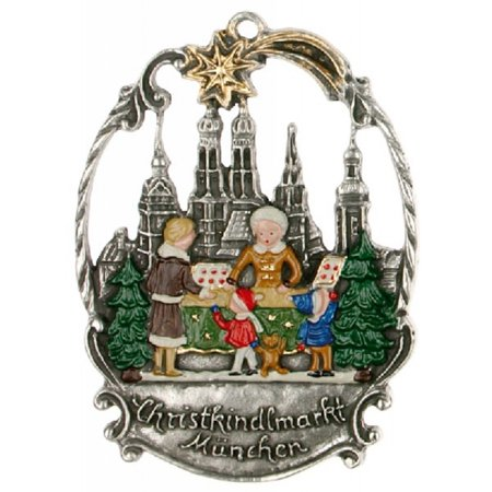 Pewter Christmas Decorations - Christmas Market Munich Germany German Pewter Ornament Decoration Made Germany