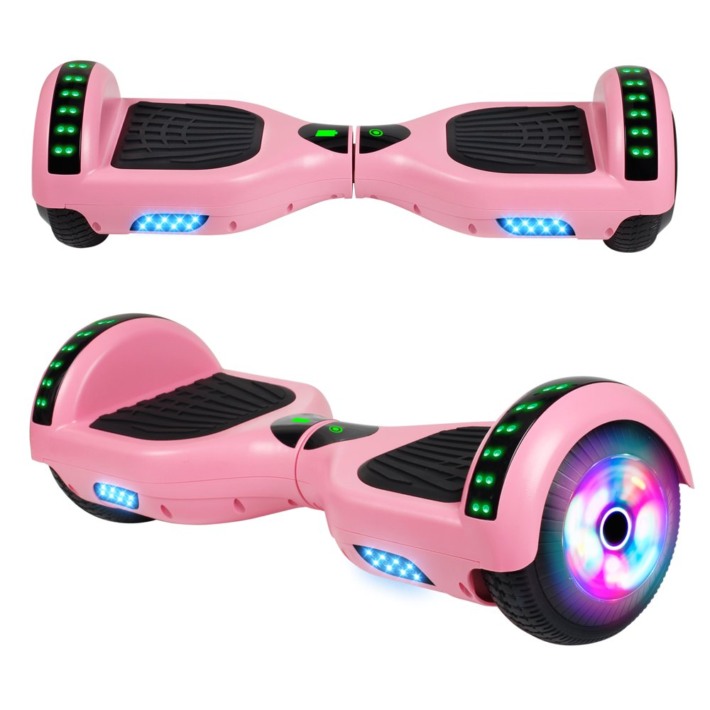 """SISIGAD Hoverboard with bluetooth 6.5"""" Two-Wheel Self Balancing Hoverboard with LED Lights Electric Scooter Hoverboard for Kids UL 2272 Certified Pink"""