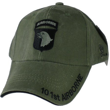 - 101st Airborne Division Tonal Color Insignia Mens Cap [Olive Drab Green - Adjustable]
