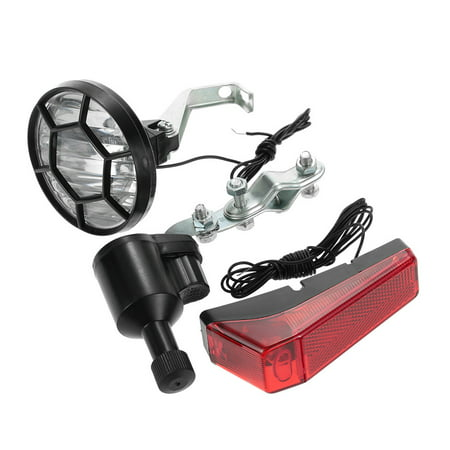 Bicycle Lights Set Kit Bike Safety Front Headlight Taillight Rear light Dynamo No Batteries Needed - image 5 of 7