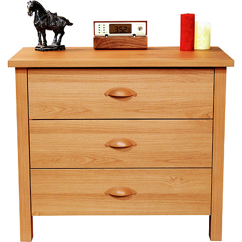Nouvelle 3-Drawer Dresser, Oak