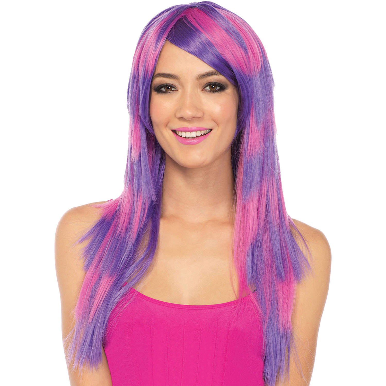 Cheshire Cat Striped Long Wig Adult Halloween Accessory
