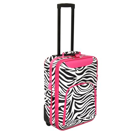 All Seasons Zebra Print 20 Rolling Carry On Luggage Suitcase