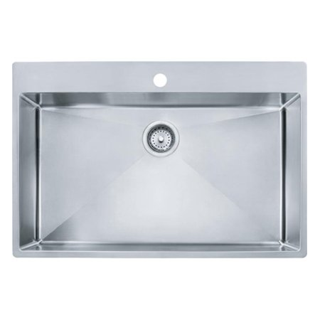 9bc81dd9eb Franke HFS3322-1 Vector 33 1/2u0022 Single Basin Undermount/Drop In  Stainless