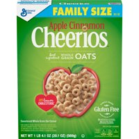 Apple Cinnamon Cheerios, Gluten Free Cereal, 20.1 oz