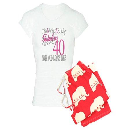 6e0b8bc38cf CafePress - 40Th Birthday Gifts - Women s Light Pajamas - Walmart.com
